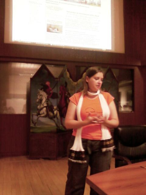 ირინა კუჩმა – პრეზენტაცია ეროვნულ ბიბლიოთეკაში. 2012.28.06