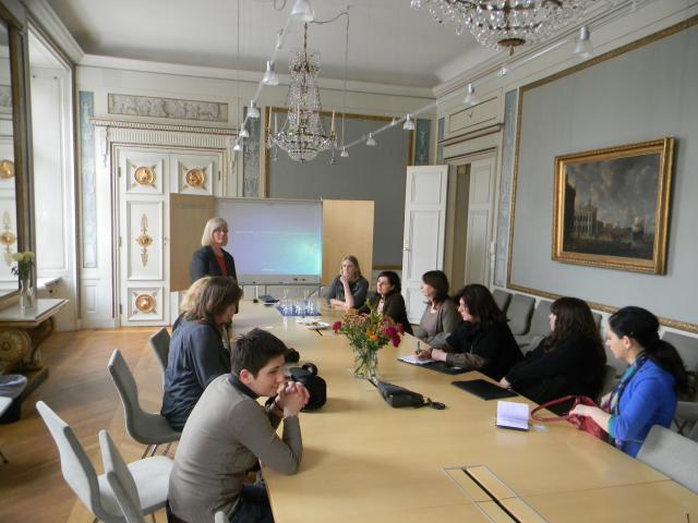შეხვედრა შვედეთის ინსტიტუტში